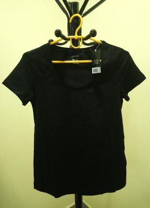 Черная хлопковая футболка esmara