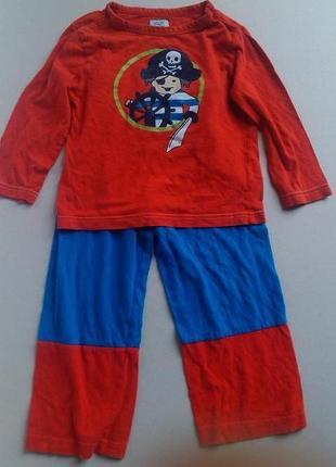 Хлопковая пижамка пиратик