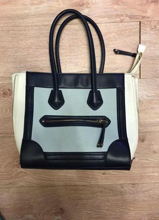 Вместительная сумка похожа на celine