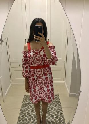 Платье с вышивкой asos xs/s1 фото