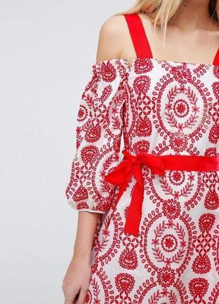 Платье с вышивкой asos xs/s3 фото