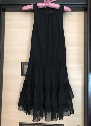 Сарафан платье с рюшами zara