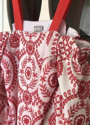 Платье с вышивкой asos xs/s4 фото