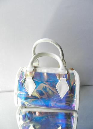 ⛔✅женский прозрачный клатч сумка 2в1 стильный экокожа продвинутый pu