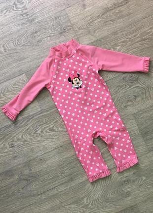 Розовый купальный костюм купальник disney c&a