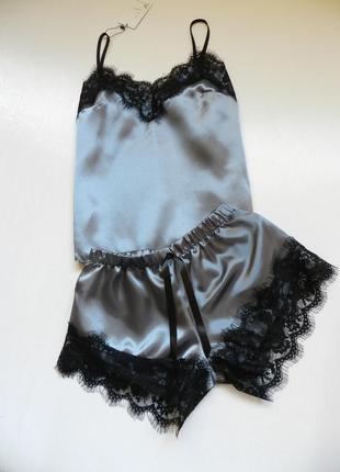 ✅ пижама атлас с кружевом