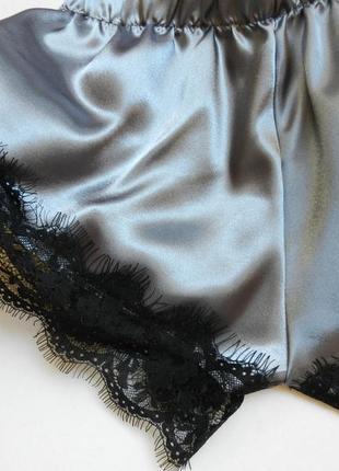 ✅ пижама атлас с кружевом5 фото