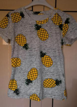 Трэндовая летняя футболка ананас