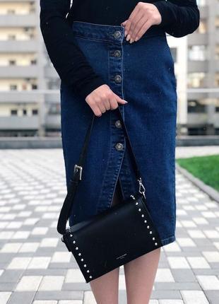 Сумка на длинной ручке cross-body сумочка трендовая и стильная кроссбоди david jones7 фото