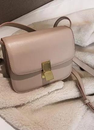 Celine box пудровая новая сумка
