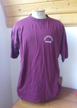 Мужские футболку бордовий розмір-50-52