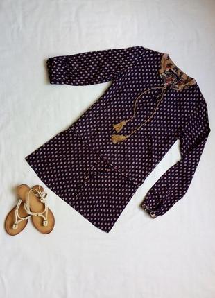 Удлиненная блузка, туника в стиле бохо