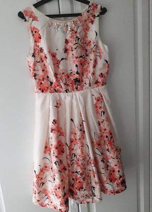 Хлопковое платье george цветочный принт
