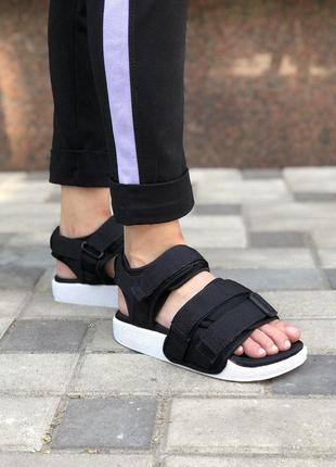 Шикарные топовые босоножки adidas adilette sandal black унисекс 😍 (сандали)