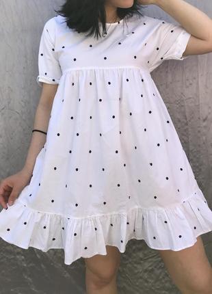 Неймовірна легенька сукня в горошок від zara