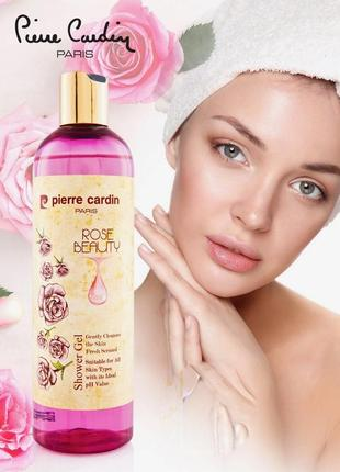 Pierre cardin shower gel 400 ml - rose beauty гель для душа