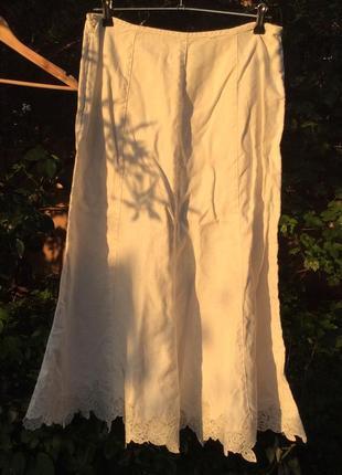 Льняная юбочка миди