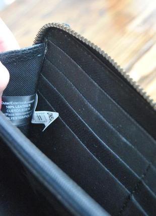 Кожаный кошелек *сумка клатч кожаная* river island / шкіряний гаманець9 фото