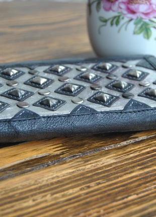 Кожаный кошелек *сумка клатч кожаная* river island / шкіряний гаманець3 фото