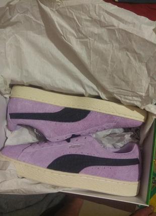 Puma suede diamond замша кожа кеды кроссовки обувь2 фото