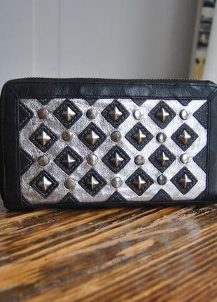 Кожаный кошелек *сумка клатч кожаная* river island / шкіряний гаманець