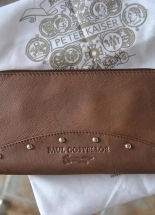 Кожаный кошелек paul costelloe / шкіряний гаманець