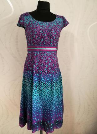 Вискозное платье миди летнее,легкое