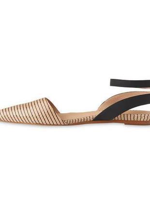 Стильные кожаные брендовые мюли сандалии босоножки балетки whistles оригинал