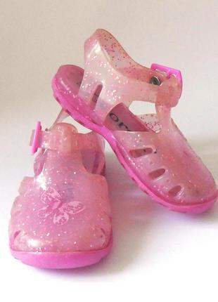 Детские силиконовые босоножки сандалии желейки для девочки george, р.22 код w2291