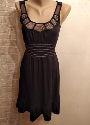 Лёгкое коттоноаое платье с баской