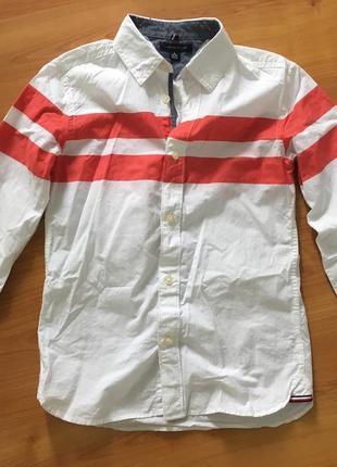 Рубашка на мальчика 8-10 лет tommy hilfiger оригинал !
