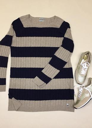 Удлинённый свитер с кашемиром