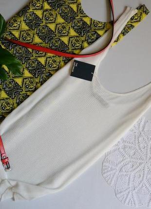 Zara маєчка біла в рубчик