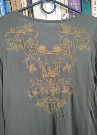 Удлиненная туника с вышивкой_лонгслив_платьице_удлиненная блузка