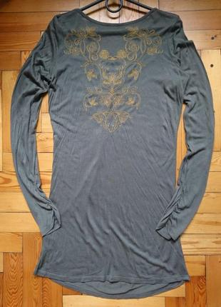 Удлиненная туника с вышивкой_лонгслив_платьице_удлиненная блузка5 фото