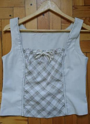 Летний хлопковый легкий костюм-тройка_юбка топ пиджак2 фото