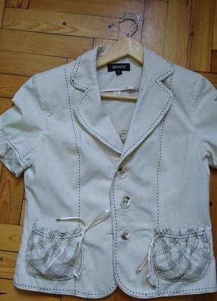 Летний хлопковый легкий костюм-тройка_юбка топ пиджак3 фото