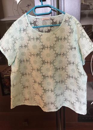 Кружевная блузка батал marks & spenser