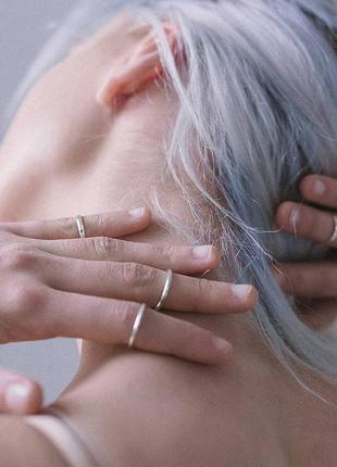 Кольцо на фалангу мия серебр