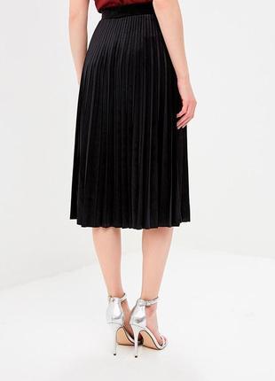 Юбка, юбка миди, плиссированная юбка под кожу