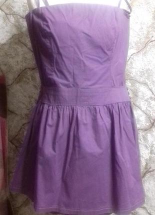 Хлопковое платье с заниженной талией