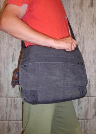 Качественная сумка кроссбоди для студента kipling trivor надёжная и качественная3 фото