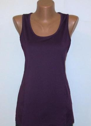 Майка от danskin идеальна для базового гардероба стройнит размер: 44-s, m