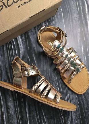 Sbicca оригинал кожаные сандалии гладиаторы цвета розового золота