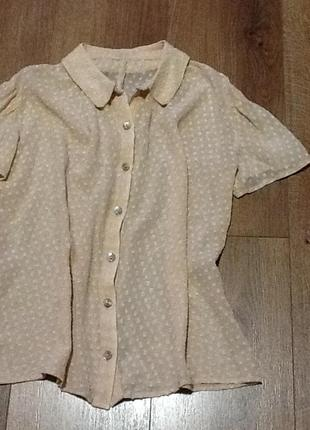 Шифоновая блуза инд.пошив из французского шелка