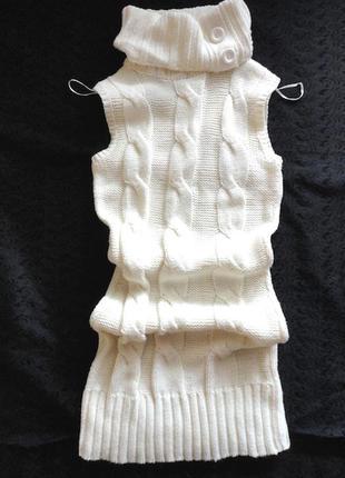 Длинный свитер clockhaus ,мягкий ,пушистый,красивый и теплый