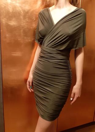 Платье- трансформер с драппировкой по фигуре
