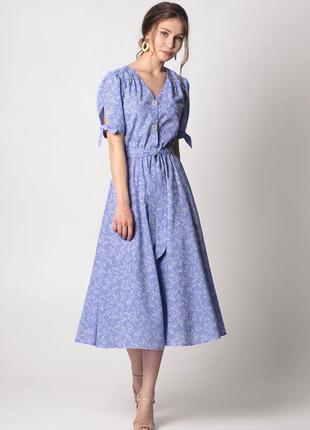 Летнее платье миди