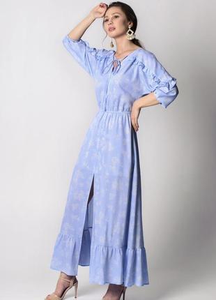 Голубое платье в стиле прованс