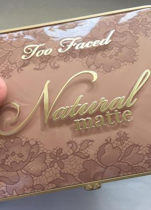 Палетка natural matte too faced сша